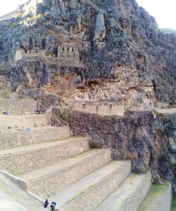 54 Terraces and montain Ollantaytambo